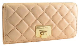 Michael Kors NEW Michael Kors Quilted Leather Astrid Carryall Wallet Nude Color