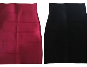 BCBGMAXAZRIA Mini Skirt Black & Red