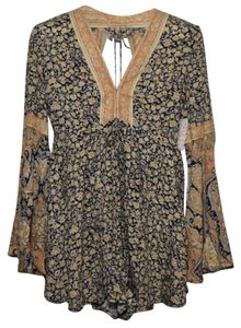 Free People Romper Shirt Backless Dress