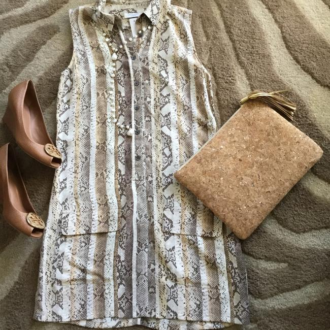 Equipment short dress Snakeskin Silk Shirtdress on Tradesy