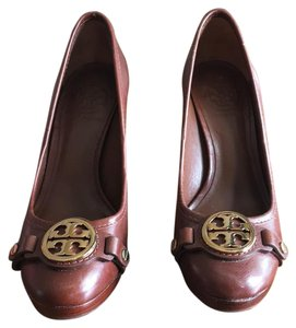 Tory Burch Brown leather Platforms