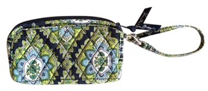 Vera Bradley Cambridge Wristlet in Navy Green