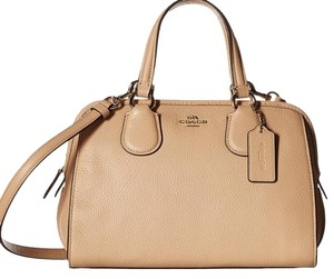 Coach Satchel in beechwood beige