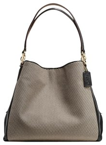 Coach Stylish Gold Leather Trendy Shoulder Bag