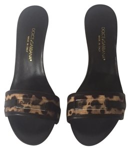 Dolce&Gabbana Animal Print Stick In Mules