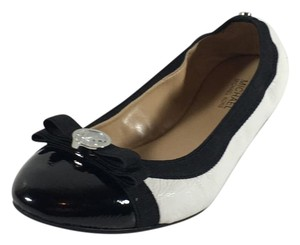 Michael Kors Dixie Bow Black White Flats