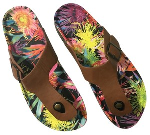 Floral Bottom Thong Sandals Best Fits 9.5-10 Multi Sandals