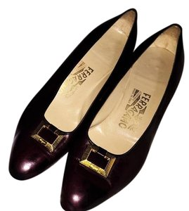 Salvatore Ferragamo Burgundy Pumps