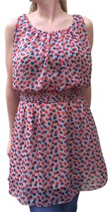 Modcloth short dress Cream with red and blue pattern on Tradesy