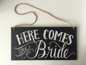 Wedding Ceremony Sign- Just Married Sign / Here Comes The Bride Sign