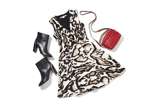 Diane von Furstenberg short dress Leopard Print A-line on Tradesy