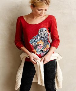 Anthropologie T Shirt Red