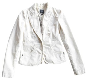 A|X Armani Exchange White Blazer