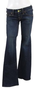 True Religion Denim Darkwash Flare Leg Jeans-Dark Rinse