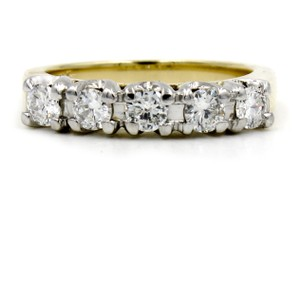 .60CT Diamond Wedding Band Ring in 14k Yellow Gold Size 5