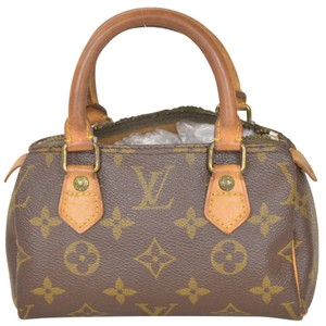 Louis Vuitton Monogram Boston Speedy Mini Cosmetic Case Satchel in Brown
