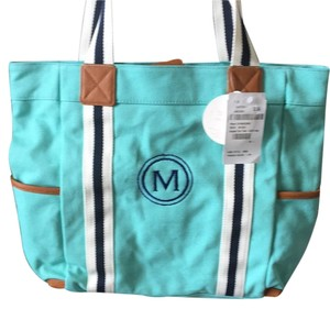 Pottery Barn Kids Aqua Diaper Bag