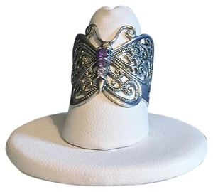 Flights of fashion fancy Sterling Silver 925 Cubic Zirconia cz Butterfly Ring