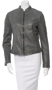 Coach Leather Spring Winter Slate Leather Jacket