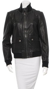 Coach Leather Spring Winter Sporty Leather Jacket