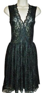 Patricia Field Lace Evening Lbd Fit Flare Dress