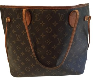 Louis Vuitton Never Full Tote in brown
