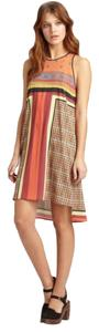 Clover Canyon short dress Multi color, orange Scarf on Tradesy