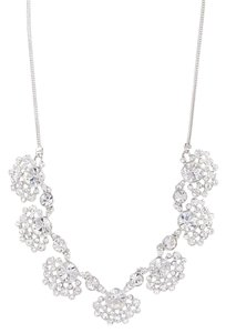 Givenchy Swarovski Element Floral Crystal Necklace