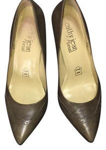 Cathy Jean Grey Brown Pumps