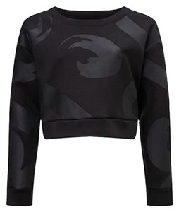 Sweaty Betty Black Polyester Cropped Sweatshirt