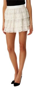 Alice + Olivia Mini Skirt Off White