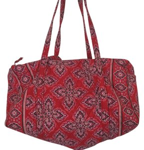 Vera Bradley Red And Pink Pattern Travel Bag