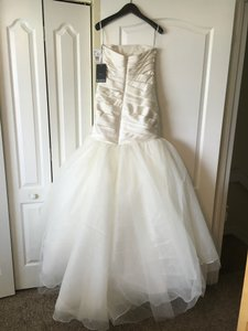 Vera Wang Bridal White By Vera Wang Fit And Flare Wedding Dress