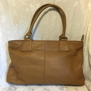 Hobo International Leather Laptop Tote in brown