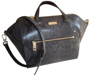 Kate Spade Leather Satchel in Black/Gray