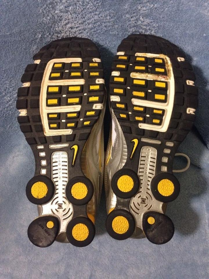 c4a8e0f421bb Nike Siver and Yellow Shox Livestrong Sneakers Size US 7 Regular (M ...