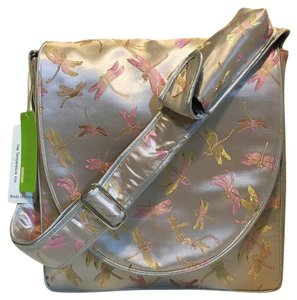 Other Dragonfly Brocade Silver Diaper Bag