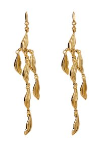 Diane von Furstenberg Chandelier lip Earrings gold plated