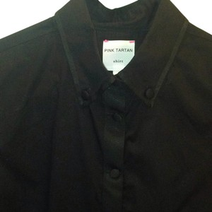 Pink Tartan Button Down Shirt Black