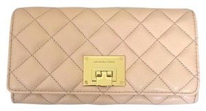 Michael Kors MICHAEL KORS Astrid Quilted Carryall Clutch Wallet Nude Clutch NWT
