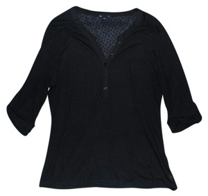 Gap Sheer Button Down Shirt Black