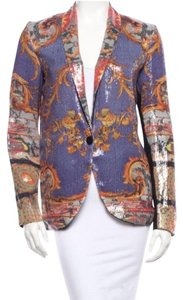 Clover Canyon Versace Sequin Jacket Sequin Canyon Purple and orange Blazer