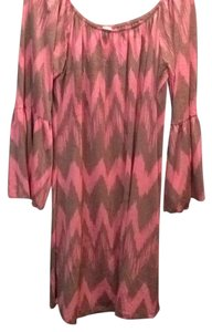Pink Coconut short dress Pink & brown on Tradesy
