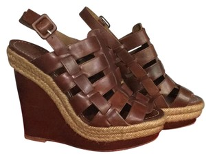 Christian Louboutin Dark cognac Wedges