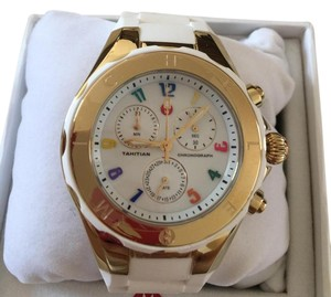 Michele NIB MICHELE Tahitian Jelly Bean large Chronograph watch MWW12F000043