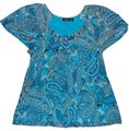 Apt. 9 Top Blue Paisley
