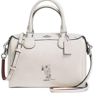 Coach Peanuts Snoopy X Mini Satchel in chalk