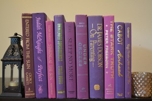 Vintage Style Books - Perfect Purple E283 - Set Of 10