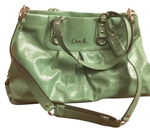 Coach Patent Ashley Satchel in Green