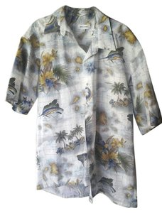 Pierre Cardin Classic Button Down Shirt Hawaiian